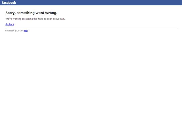 Facebook впервые был недоступен больше нескольких минут. Изображение № 1.