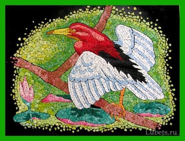 Удивительные картины изяичной скорлупы. Изображение № 7.