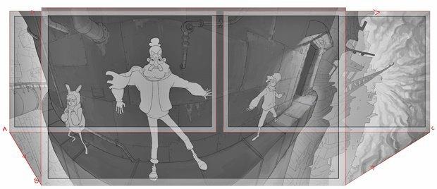 Анимация: бродяга спасает пса встимпанковском городе. Изображение № 21.