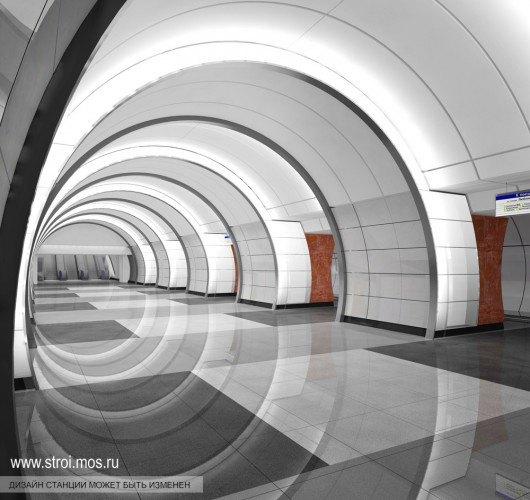 Опубликованы видеотуры по будущим станциям московского метро. Изображение № 7.
