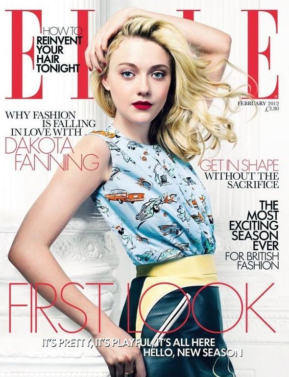 Обложки: Леди Гага для Vogue и Дакота Фэннинг для Elle. Изображение № 2.