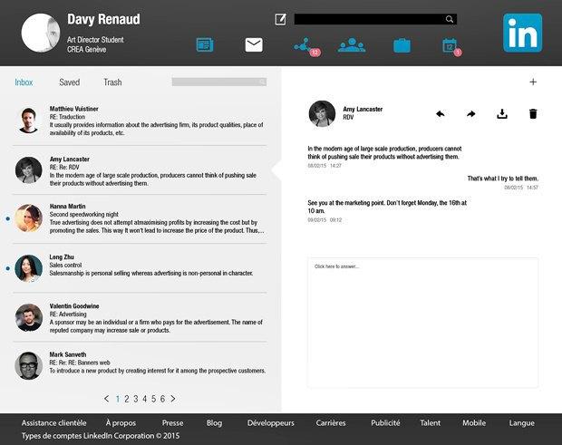 Редизайн дня: концепт веб-версии LinkedIn. Изображение № 3.