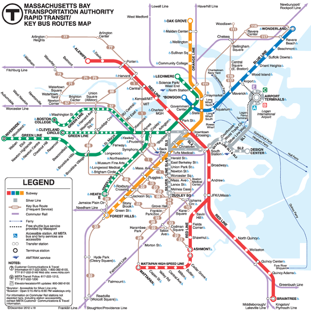 Одна из конкурсных работ на редизайн схемы движения общественного транспорта залива Массачусетса. Изображение № 3.