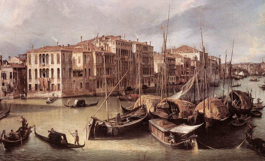 Большой канал, Джованни Канолетто, 1725. Изображение № 14.