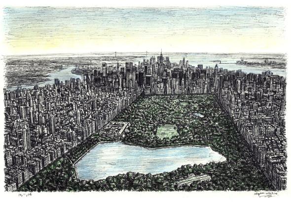 Стивен Вилтшер. Художник рисующий панорамы городов по памяти. Изображение №8.