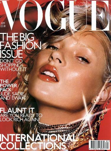 Кейт Мосс, наобложках главных модных журналов планеты. Изображение № 1.