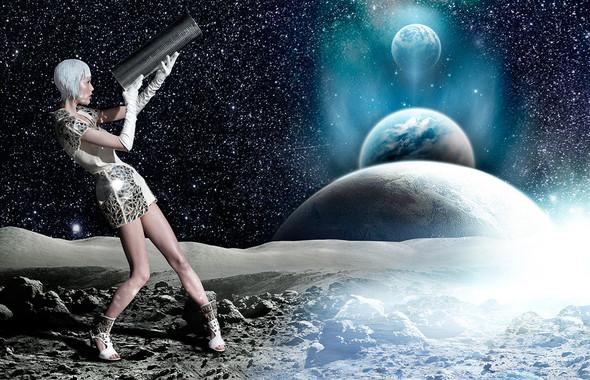 Космос рядом: модные съемки к выходу фильма «Прометей». Изображение №49.