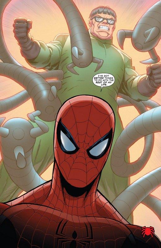 Человек-паук, за которым стоит Доктор Осьминог . Изображение № 1.