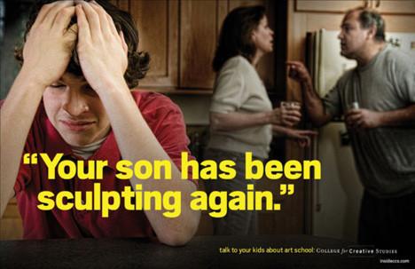 Рекламная кампания об арт-школе с пародией на наркотики. Изображение № 5.