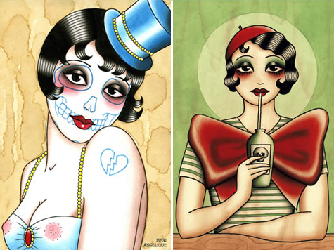 Иллюстрации тату-художницы Анжелики Ауткемп дляобуви. Изображение № 13.