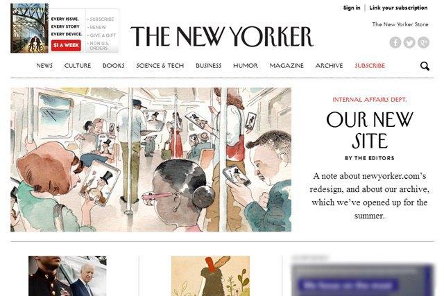 Новая версия сайта The New Yorker. Изображение № 1.
