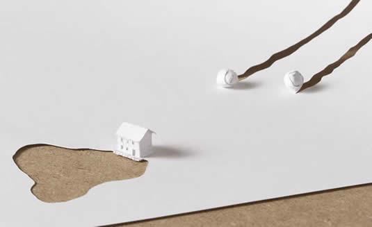 Воображение ножницы бумага