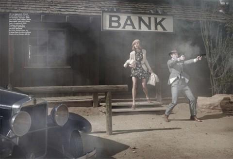 Бонни и Клайд в Harpers Bazaar. Изображение № 10.