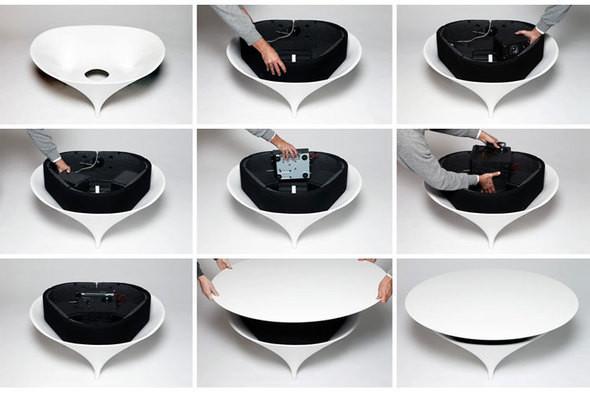 Изображение 3. Голос из ниоткуда: кофейный столик со встроенными динамиками.. Изображение № 3.