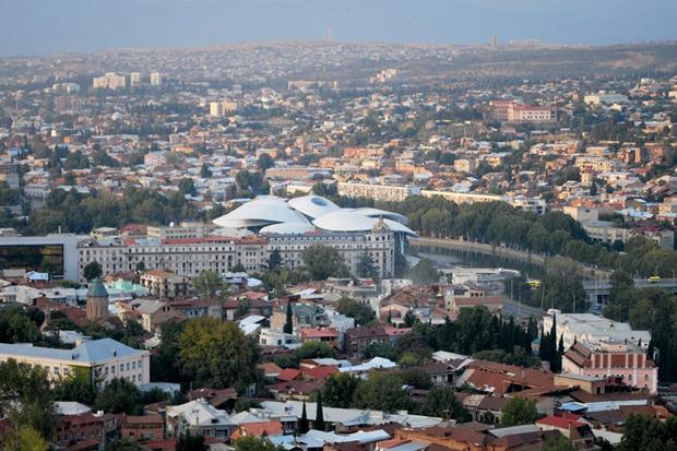 В столице Грузии возвели административное здание в виде грибов. Изображение № 9.