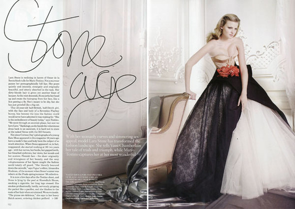 Lara Stone for Vogue UK December 2009. Изображение № 2.