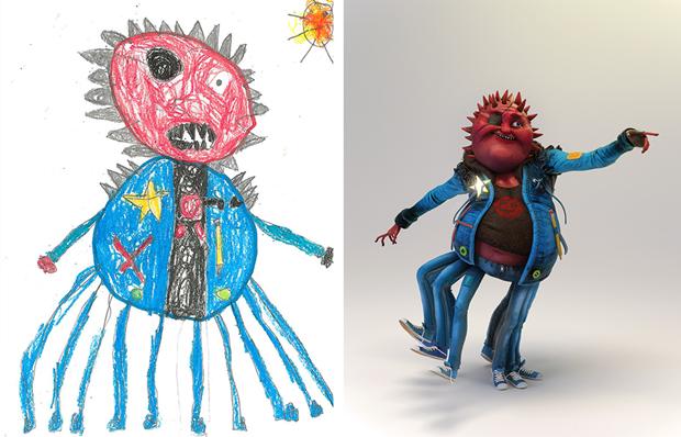 Художники создали монстров наоснове детских рисунков. Изображение № 16.