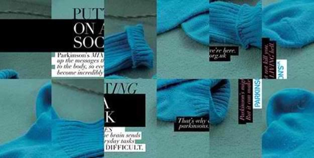 Баннеры наглядно объясняют, каково страдать болезнью Паркинсона. Изображение № 1.