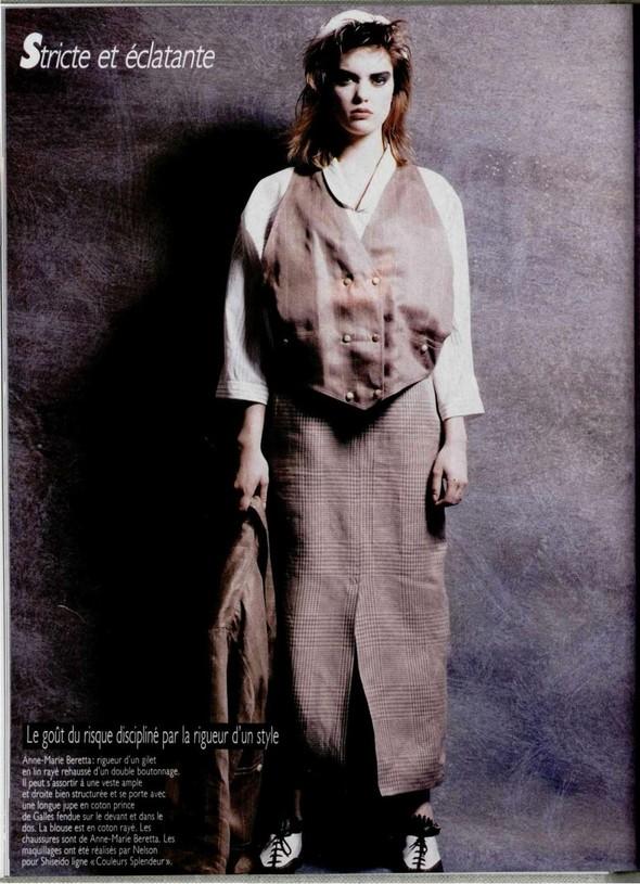 Архивная съёмка: Беате Ханзен для L'Officiel, 1986. Изображение № 4.