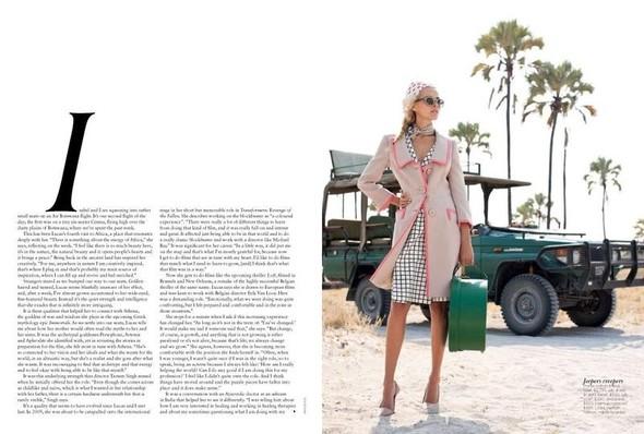Съёмка: Изабель Лукас для австралийского Vogue. Изображение № 2.