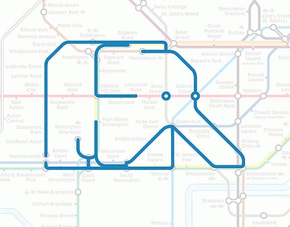 Осторожно! Звери в лондонском метро!. Изображение № 2.