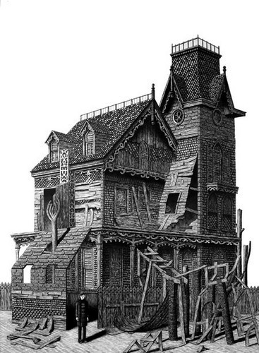Иллюстрации, похожие на чертежи викторианской эпохи. Изображение № 2.