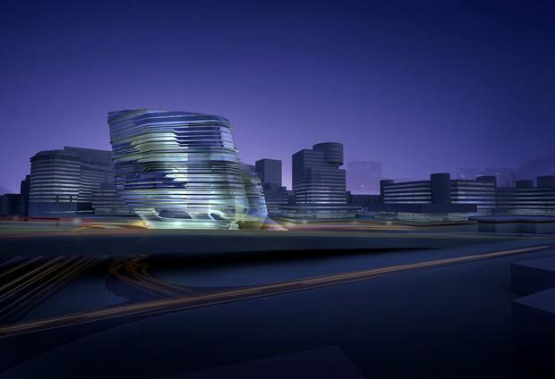 Заха Хадид проектирует университет дизайна в Гонконге. Изображение № 5.