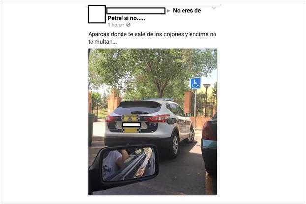 Испанку оштрафовали за фото машины полиции на Facebook. Изображение № 1.