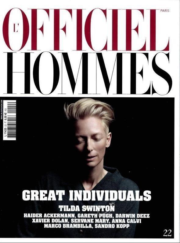 Изображение 4. Новые обложки: V, L'Officiel Hommes и другие.. Изображение № 2.