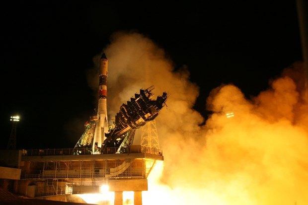 Пуск ракеты «Союз-У» в апреле 2014 года. Изображение № 1.