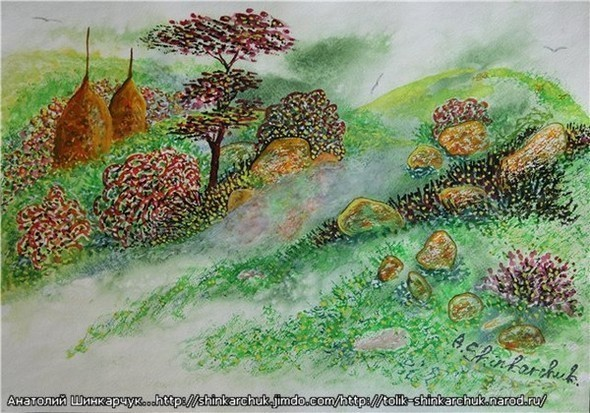 Shinkarchuk Anatoly watercolor and Japan Шинкарчук Анатолий акварель и Япония. Изображение № 12.