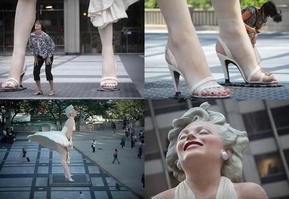 Памятник Мэрилин Монро в Чикаго. Изображение № 1.