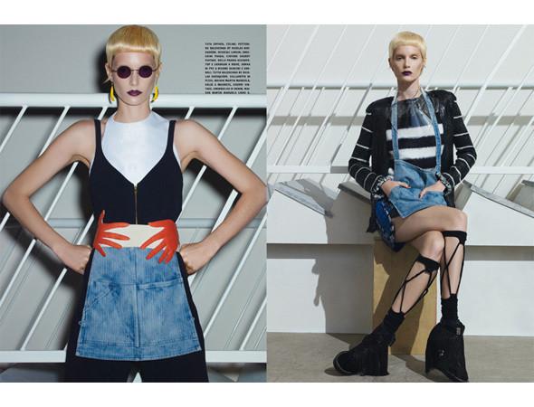 Съёмка из итальянского Vogue с Ирис Штрубеггер, апрель 2011. Изображение № 36.
