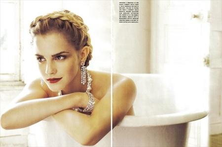 Эмма Уотсон (итальянский Vogue, сентябрь 2008). Изображение № 11.