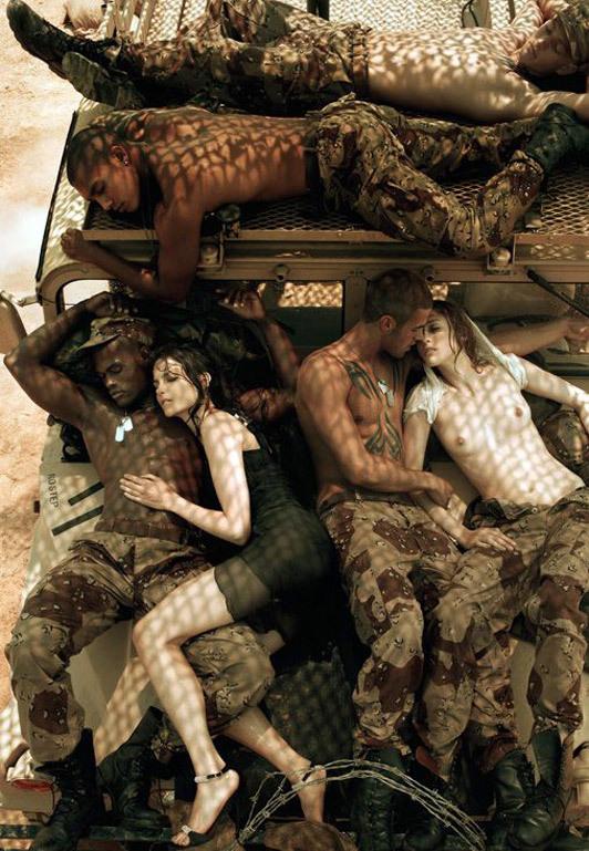 «Make Love NotWar» by Steven Meisel Vogue Italy. Изображение № 2.