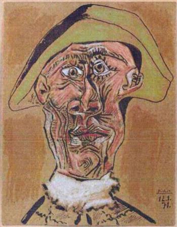 Пабло Пикассо «Голова Арлекина». Изображение № 6.