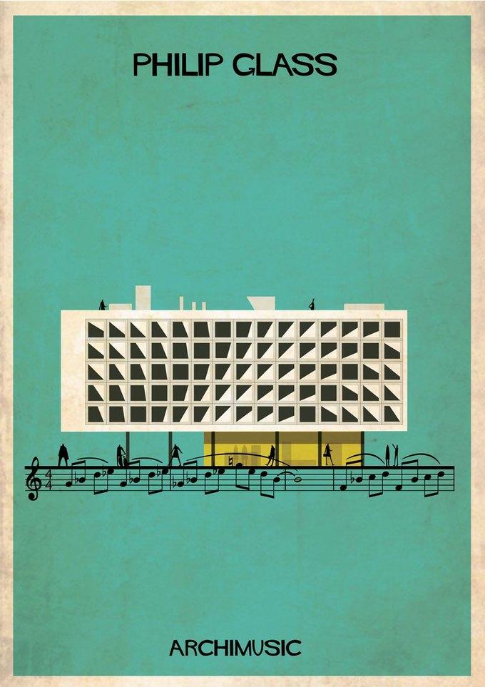 Испанский архитектор превратила песни в здания для новой серии плакатов . Изображение № 23.