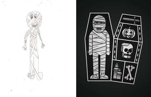 Художники создали монстров наоснове детских рисунков. Изображение № 46.