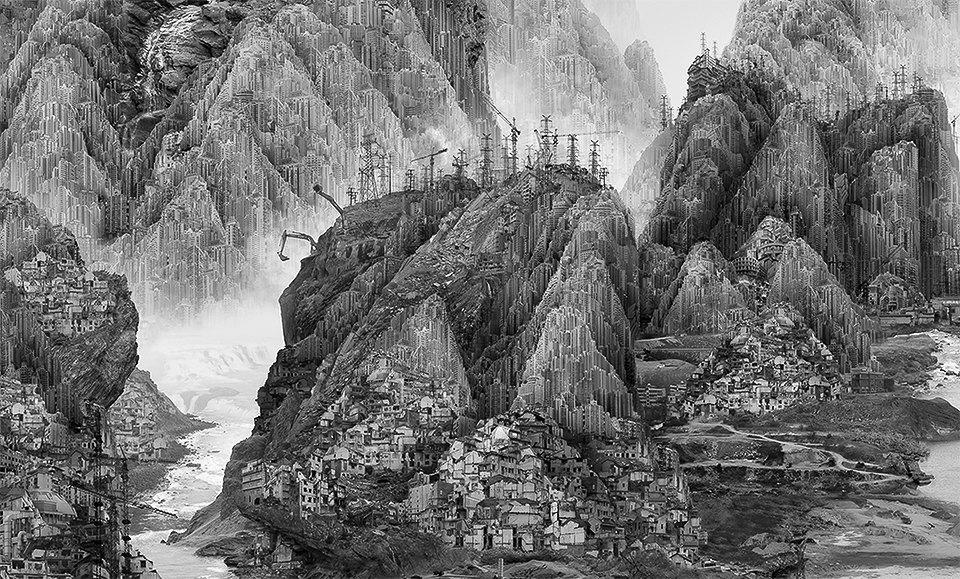 Мрачное будущее на коллаже китайского художника. Изображение № 2.