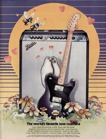 Винтажные рекламные постеры фирмы Fender. Изображение № 4.