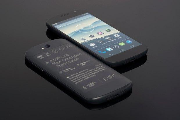 Прототипы второго поколения YotaPhone, показанные на выставке Mobile World Congress. Изображение № 1.