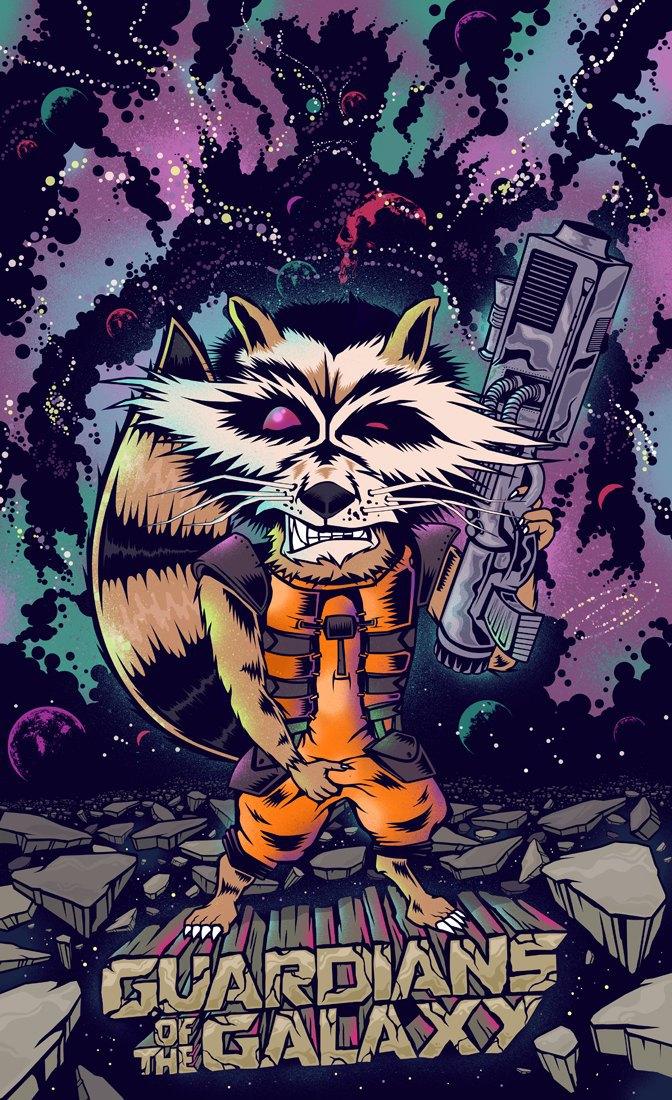Опубликованы 44 фанатских постера к «Стражам Галактики». Изображение № 32.