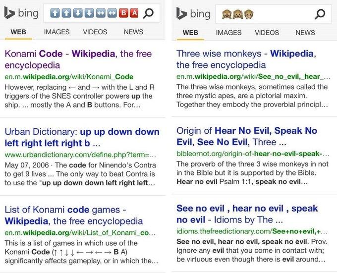 Bing начал искать c помощью эмодзи. Изображение № 4.