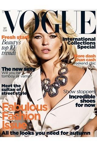 Кейт Мосс на обложках vogue. Изображение № 31.