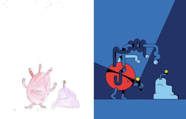 Художники создали монстров наоснове детских рисунков. Изображение № 42.