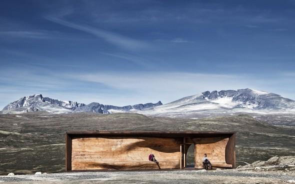 Norwegian Wild Reindeer Centre Pavilion by SNHETTA на thisispaper.com. Изображение № 1.