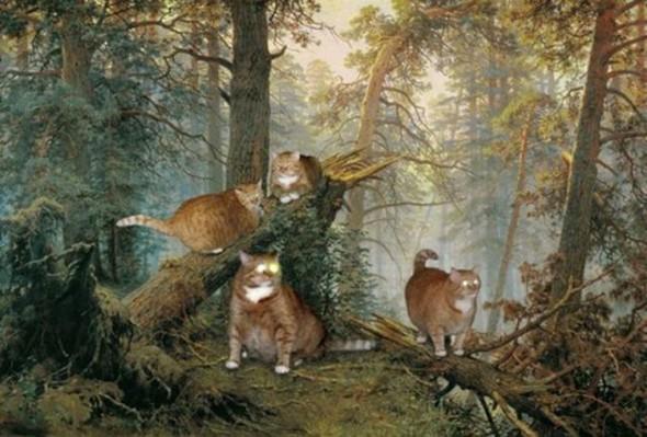 Новый взгляд на полотна великих художников. В главной роли кот. Изображение № 14.