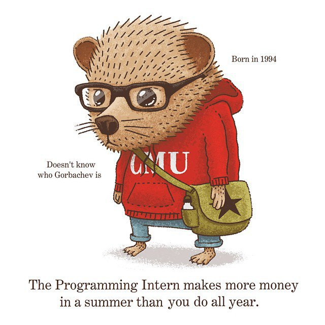 «Интерн-программист за лето зарабатывает больше денег, чем ты за весь год». Изображение № 1.