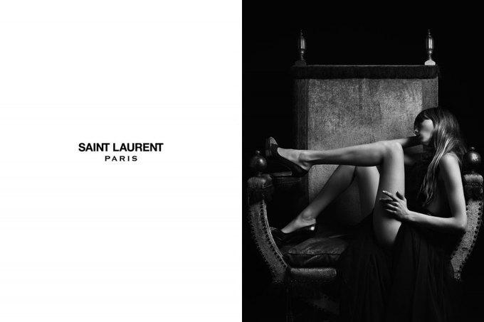 Бек и Эди Кэмпбелл снялись в кампании Saint Laurent. Изображение № 12.