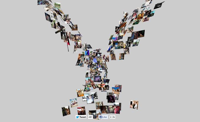 Интерактивный клип превращает профайл «Фейсбука» в птицу. Изображение № 1.